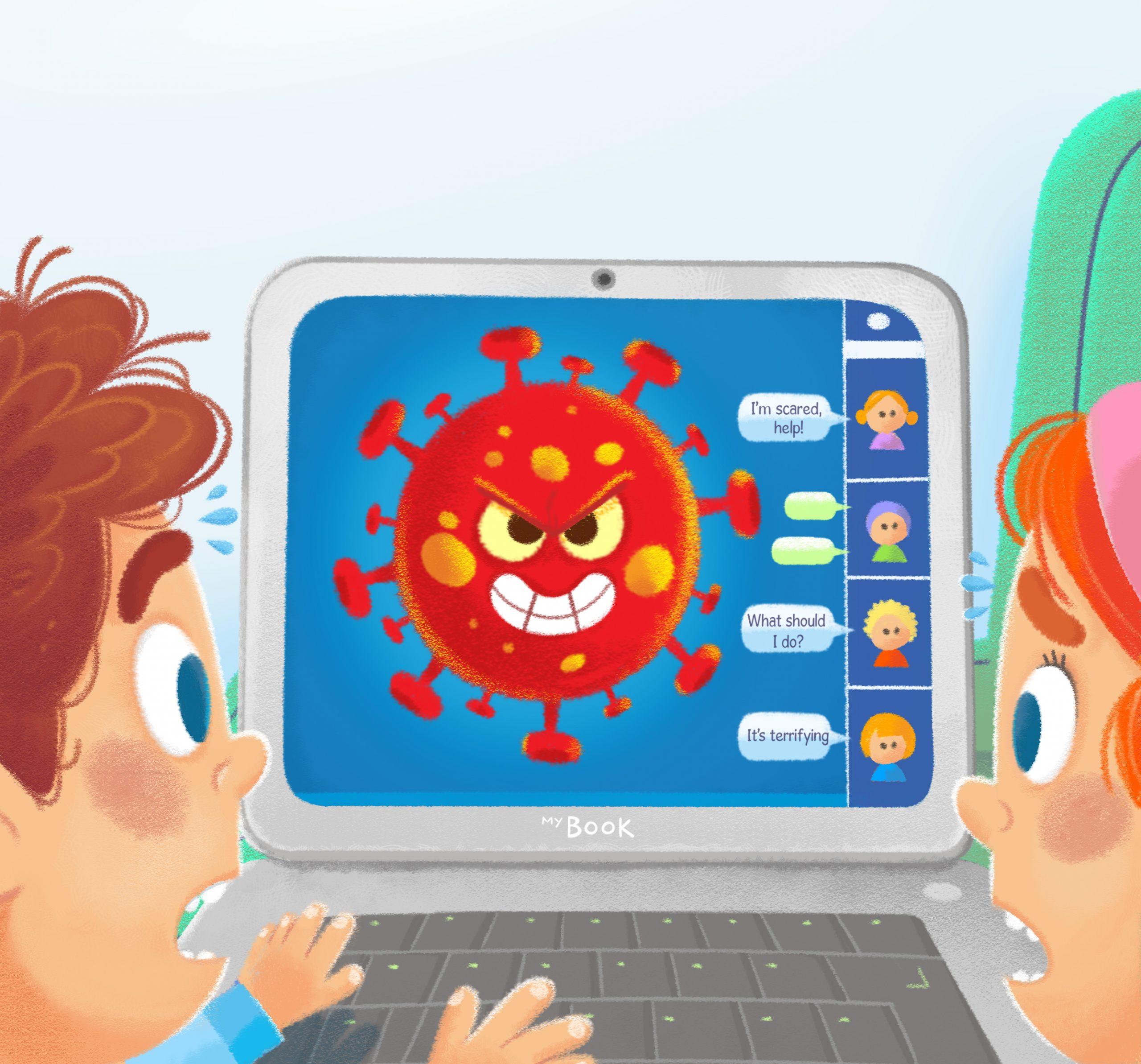 كتاب إلكتروني للأطفال يقدم شرحاًمفصلاً برسوم معبرة عن كيفية التعامل مع الأزمة الصحية الحالية