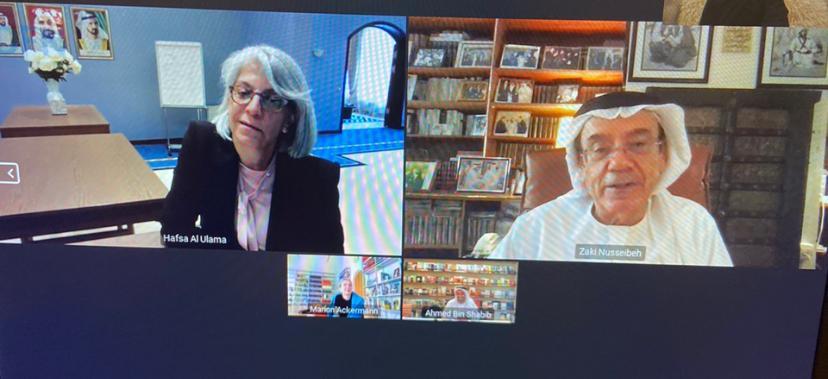 زكي نسيبة يبحث مع مديرة متحف دريزدن القومي سبل دعم الحوار والعلاقات الثقافية بين الامارات وألمانيا