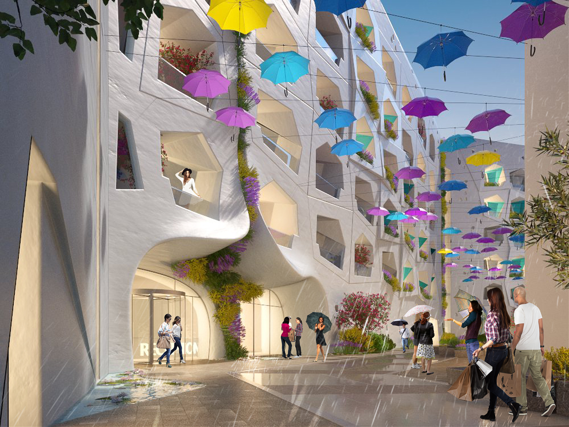 """""""كلايندست"""" تفتتح ساحة الأمطار والثلوج  الإصطناعية الأولى من نوعها في دبي"""