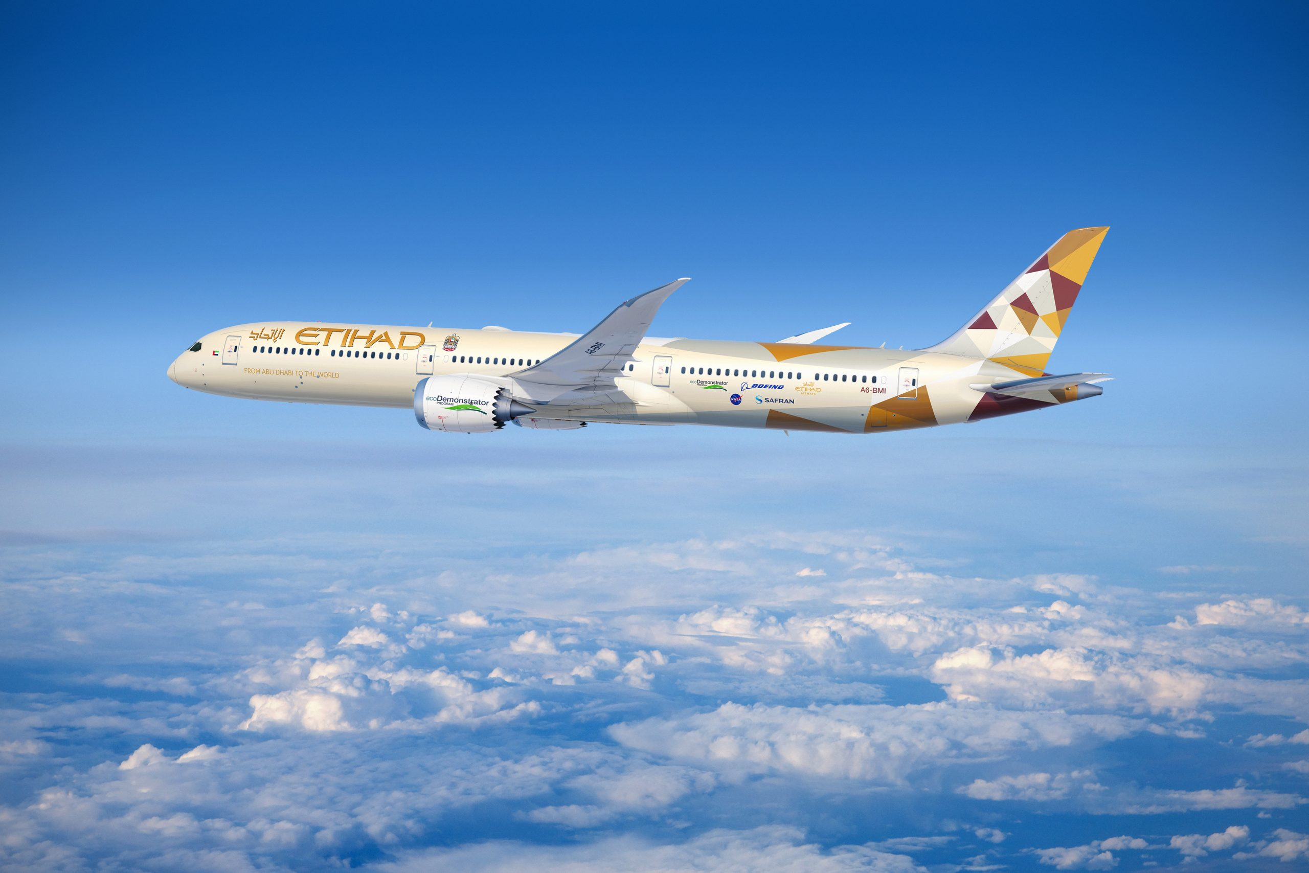 الاتحاد للطيران تعزز شراكتها مع بوينج من خلال برنامجecoDemonstratorالمستدام