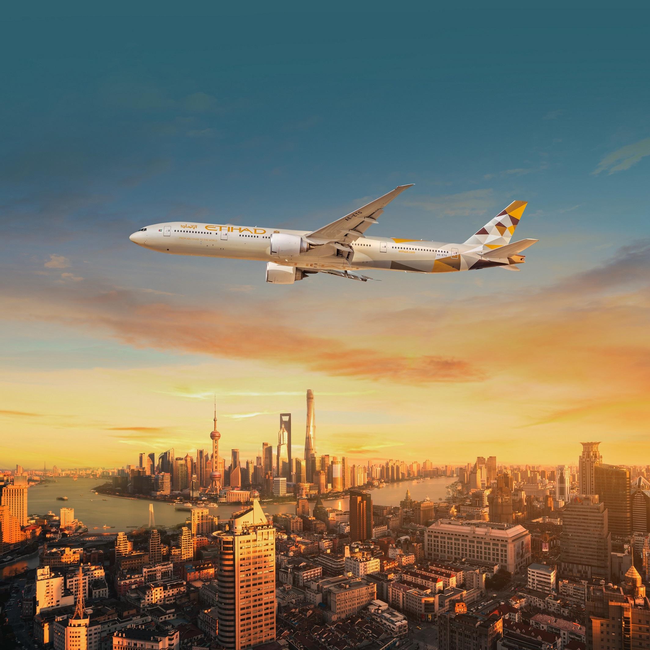 الاتحاد للطيران تستأنف رحلات الركاب إلى شنغهاي