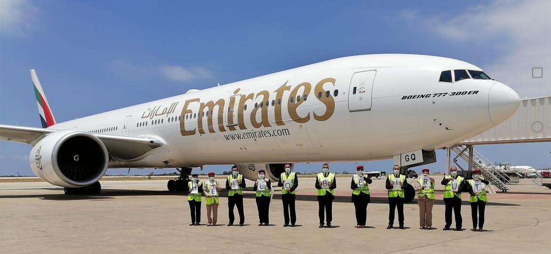 طيران الإمارات تستأنف خدمات الركاب إلى بيروت