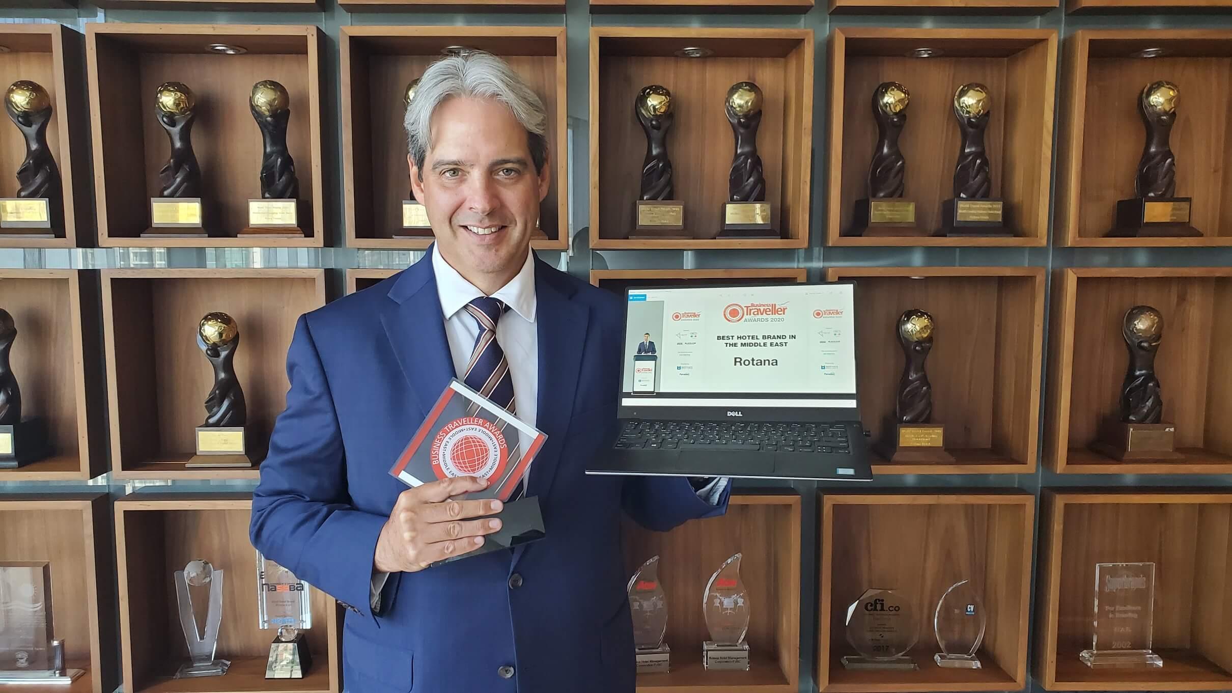 """روتانا تحصد جائزة """"أفضل علامة فندقية في الشرق الأوسط"""" ضمن جوائز """"بزنس ترافلر الشرق الأوسط 2020"""" للعام الرابع على التوالي"""