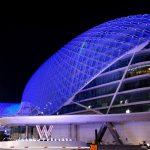 جزيرة ياس تضيء باللون الأزرق احتفاءً بأبطال خط الدفاع الأول خلال سباق جائزة الاتحاد للطيران الكبرى للفورمولا1لعام2020